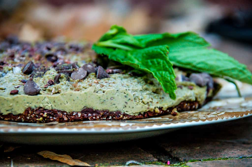 Very Merry Mint Chocolate Pie (raw, vegan, gf)