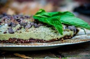 Very Merry Mint Chocolate Pie (raw, vegan, gf)