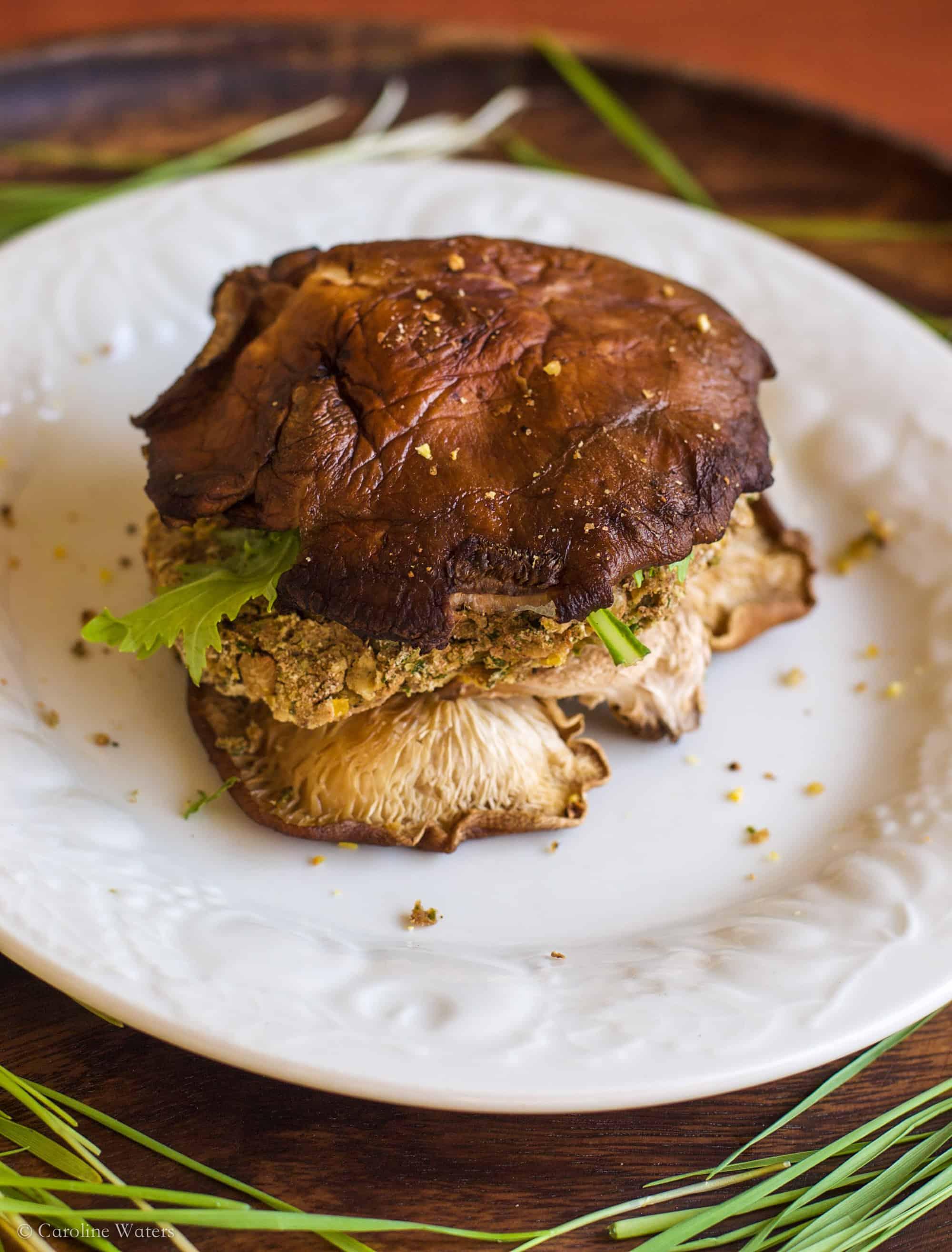 Epic Kale Burgers with Shiitake Mushroom Buns ♡ (veg)