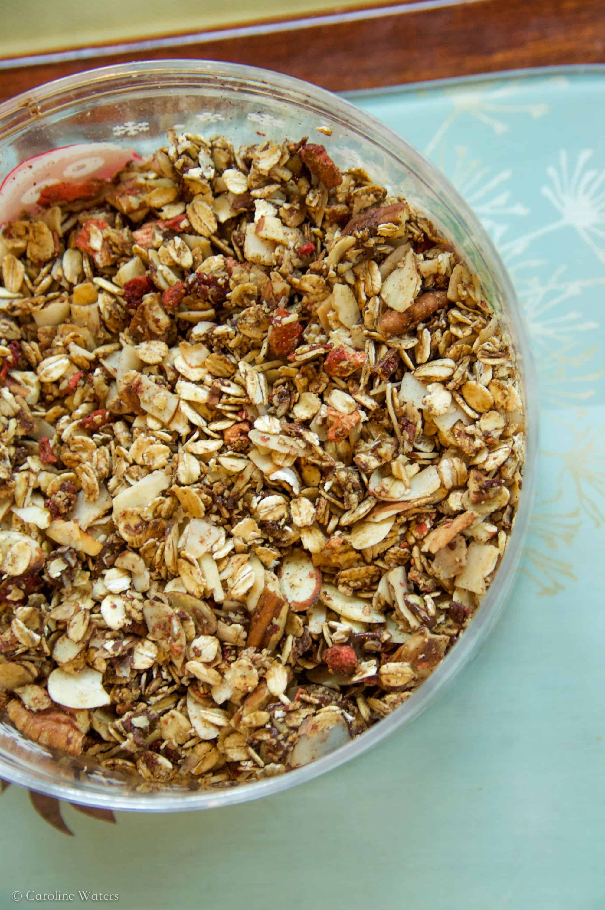 Chocolate Strawberry Crunch Granola (v)