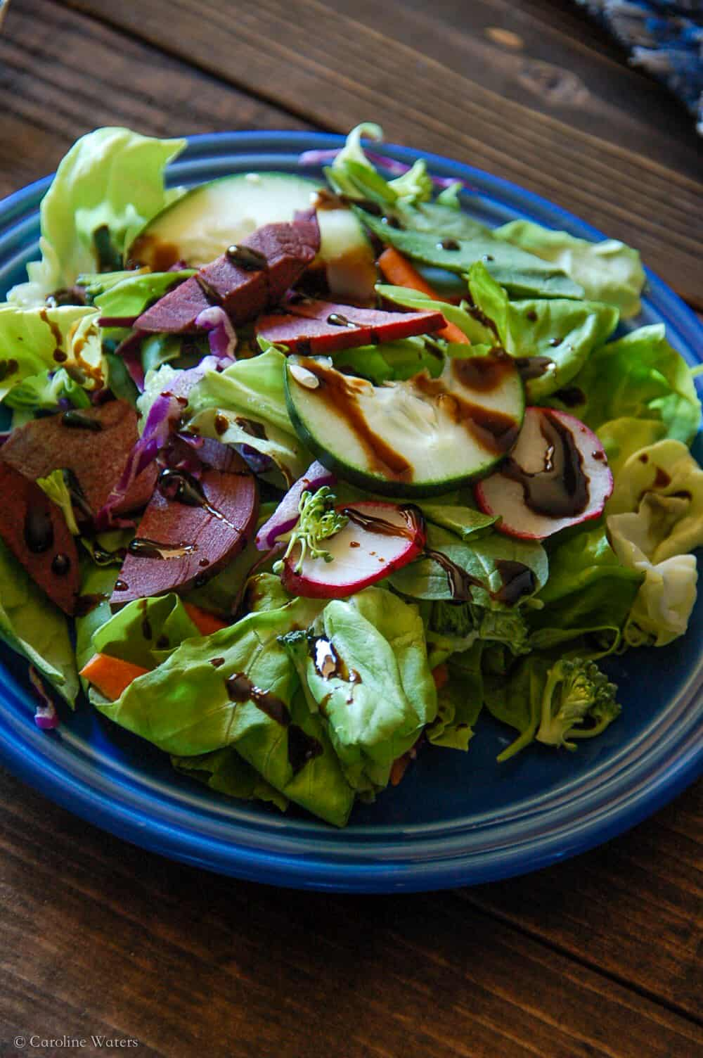 Spring Super Crunch Salad (v)