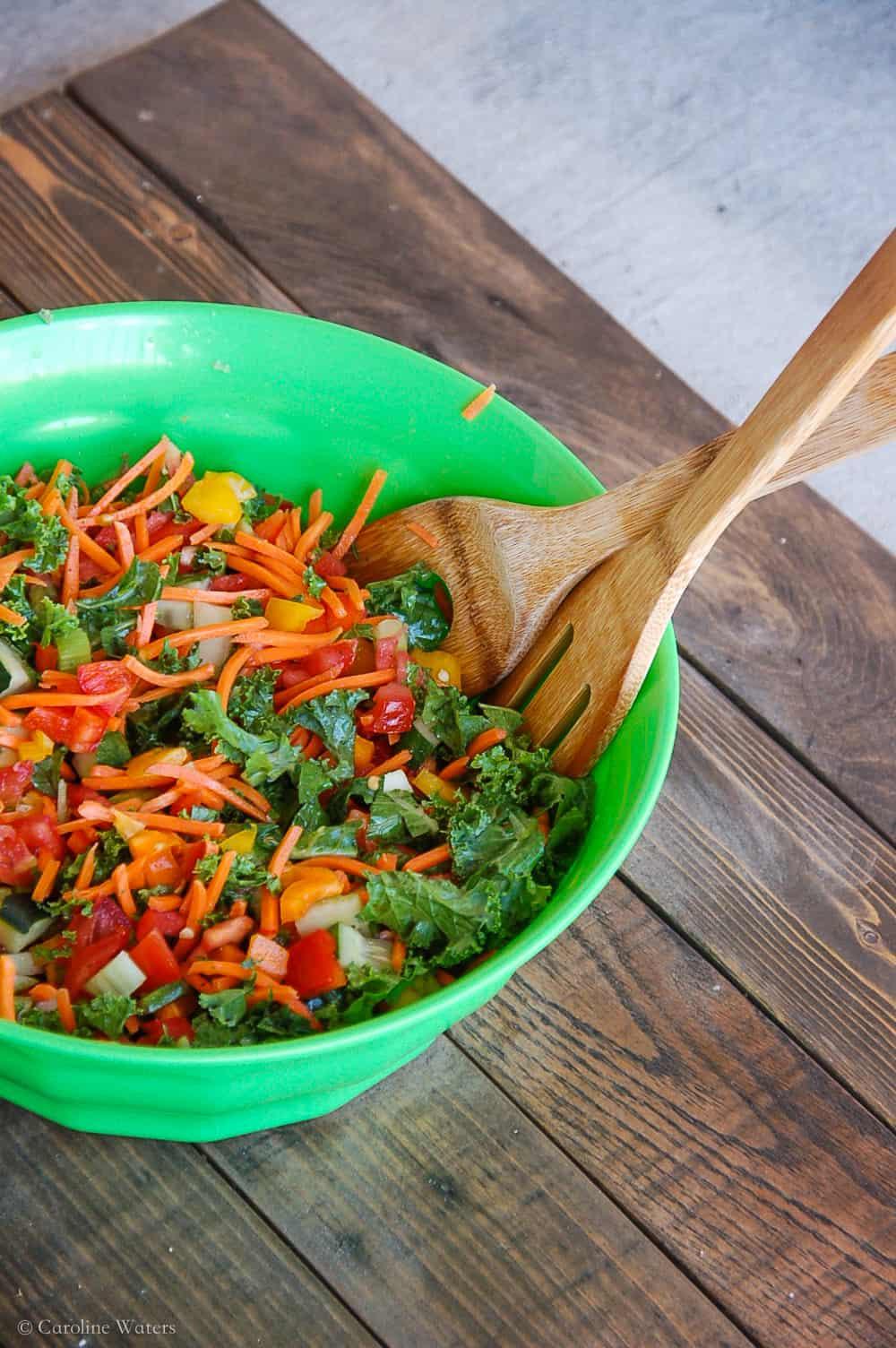 chopped superfood salad