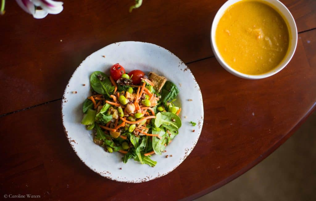 Superfood Salad + Vegan Butternut Squash Fall Soup (v)