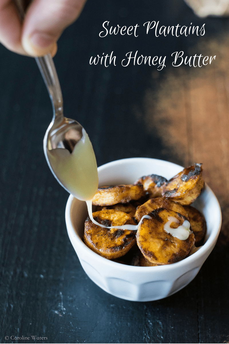 Sweet Plantains with Honey Butter (veg)