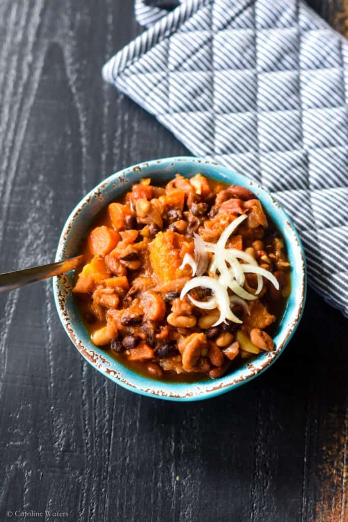 Butternut Squash & 4 Bean Chili (v)