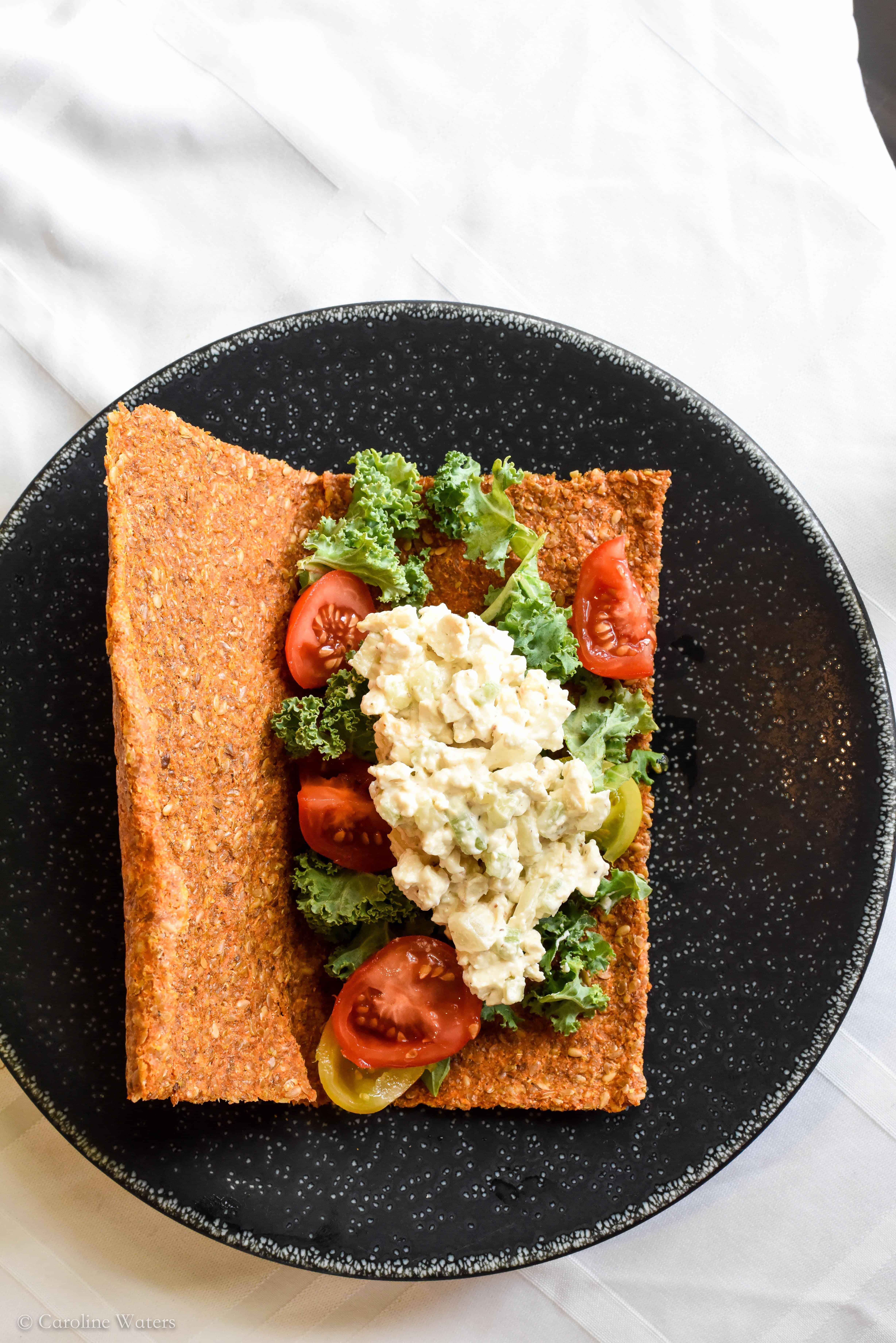 Vegan Tofu 'Chikn' Salad Wrap (v)