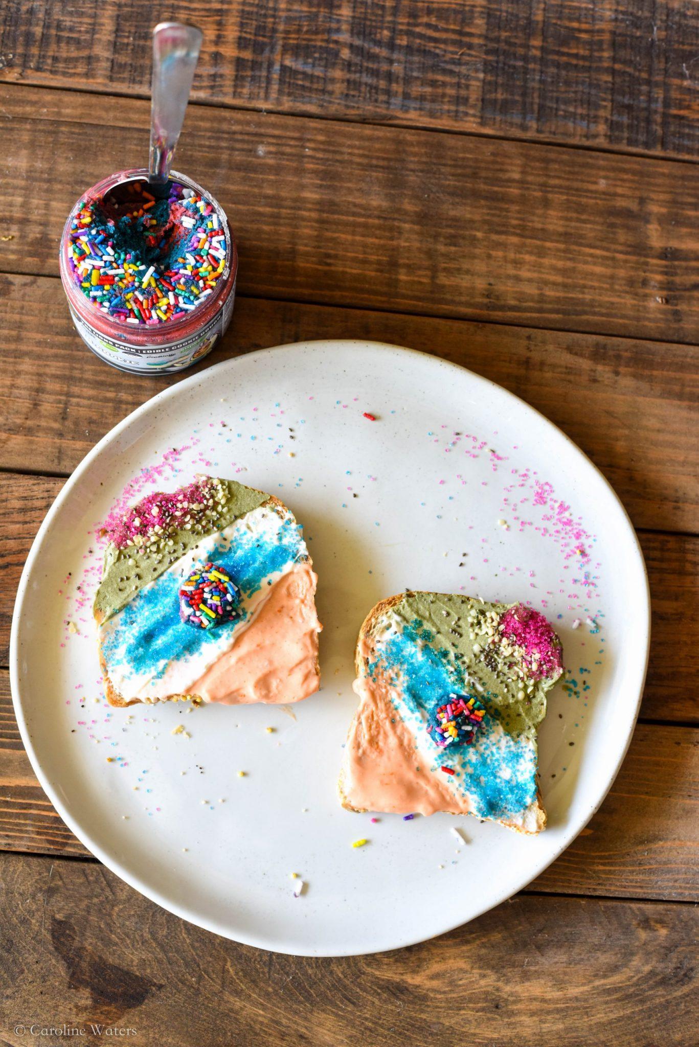 superfood unicorn toast