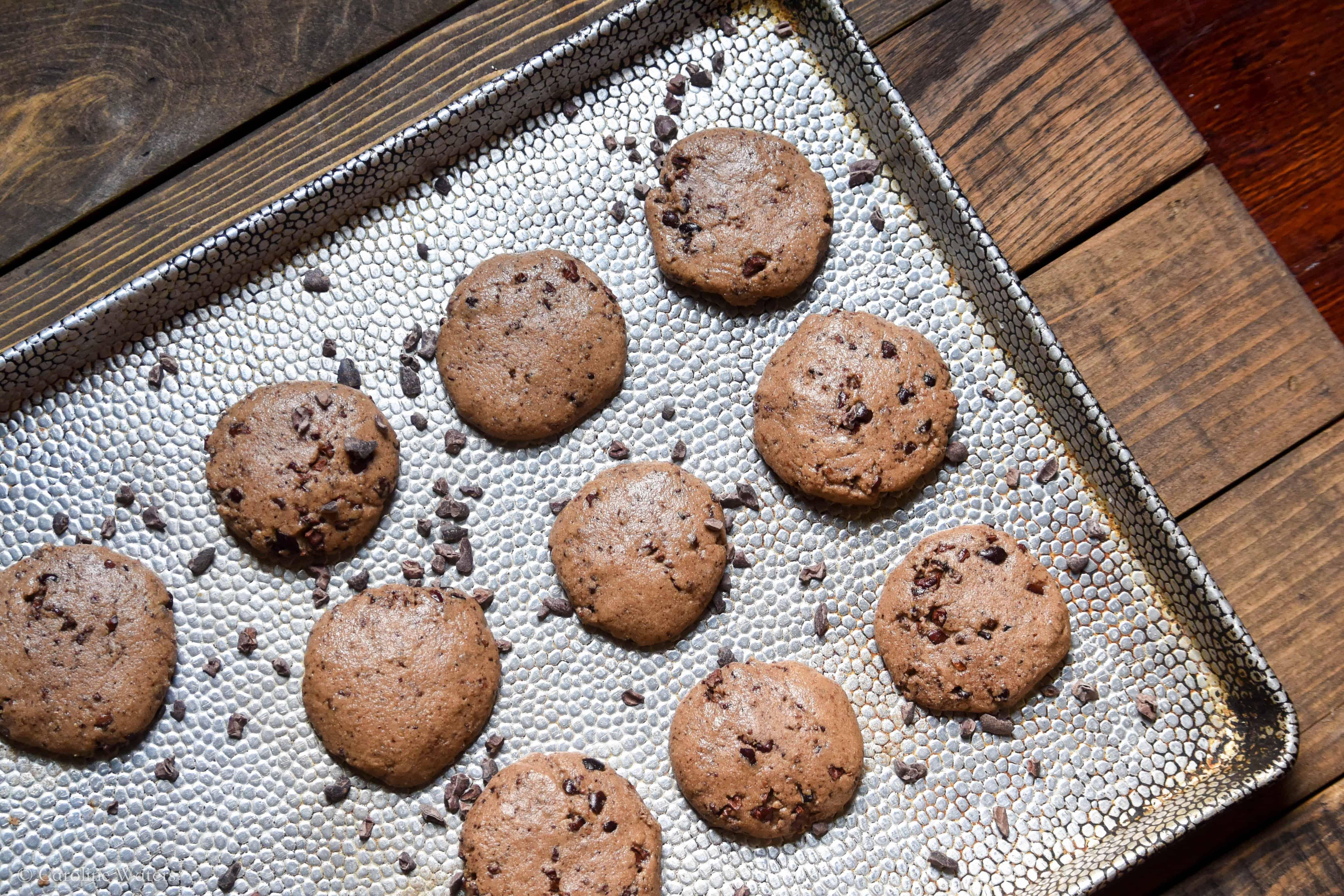 chewy tahini cookies