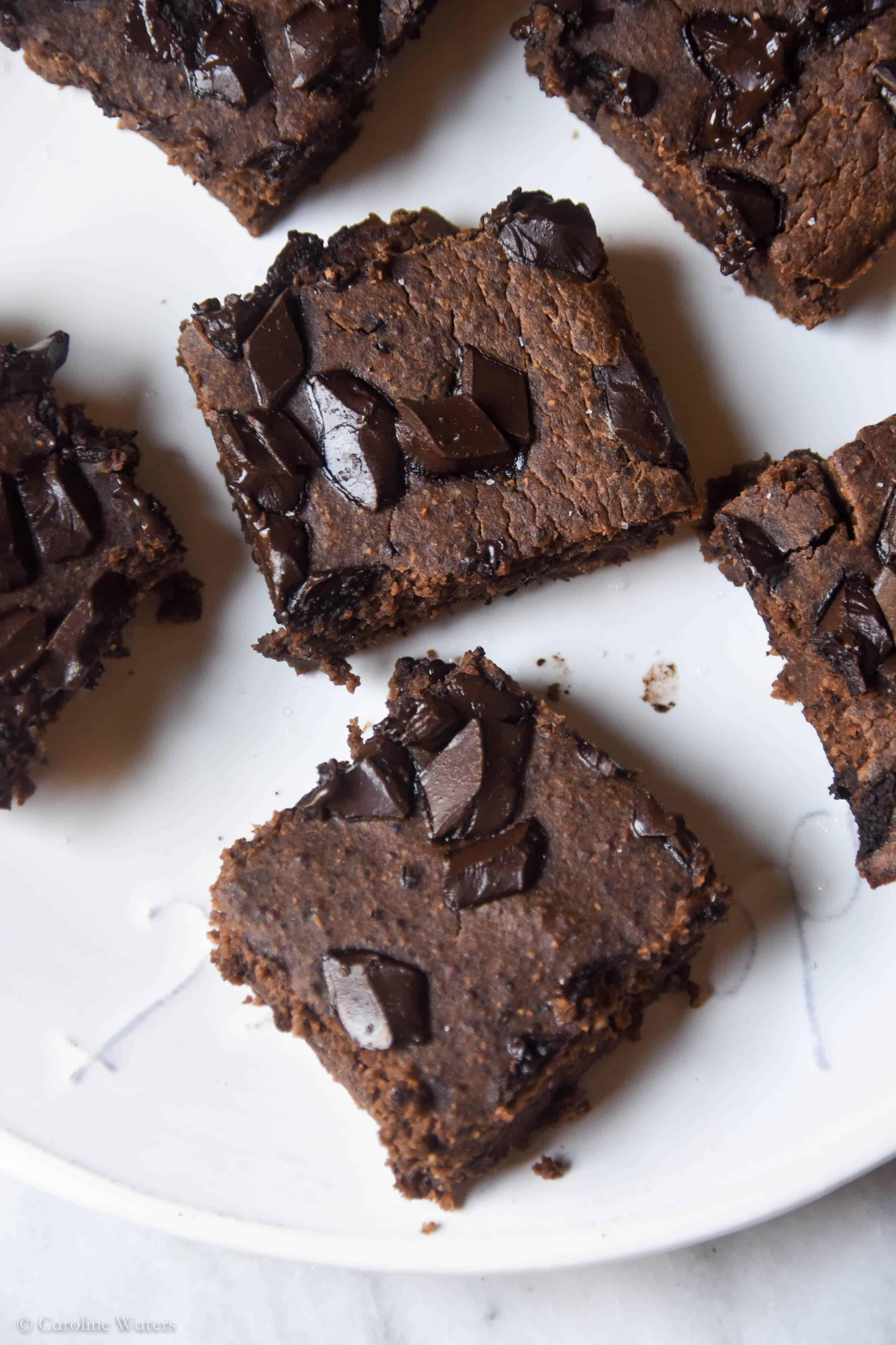 Fudgey Grain-Free High-Protein Brownies (veg w/ vegan option)