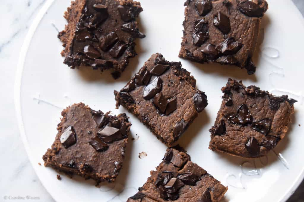 Fudgy Grain-Free High-Protein Brownies (veg/v option)