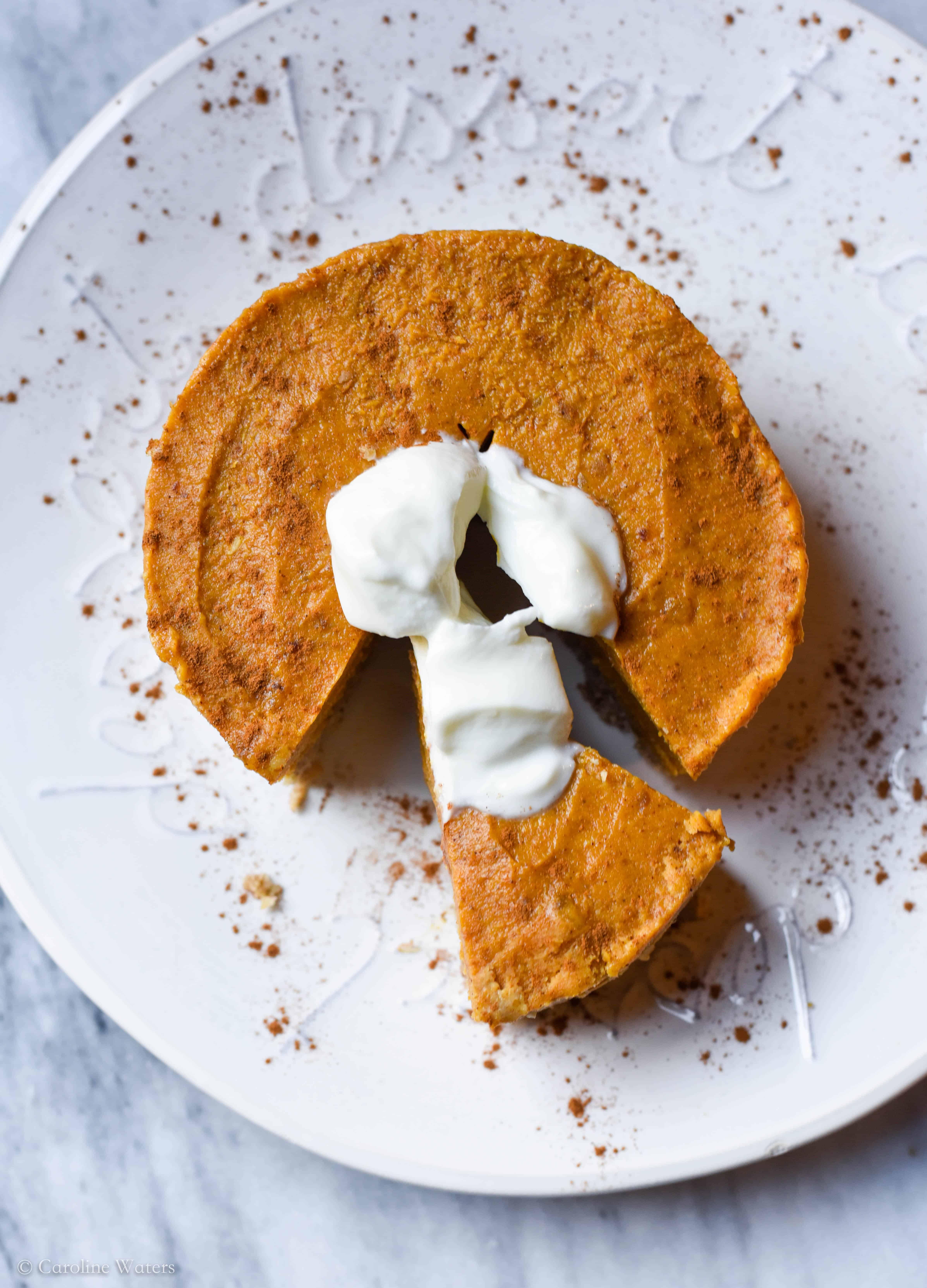Decadent Vegan Pumpkin Pie (sliced or bites!) (v)