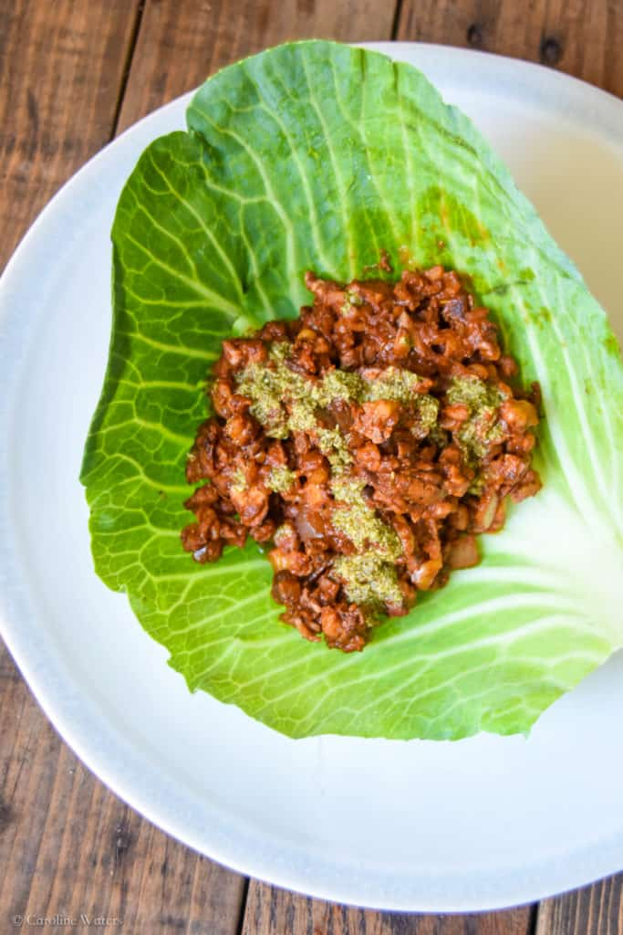 vegan ragout lettuce wraps