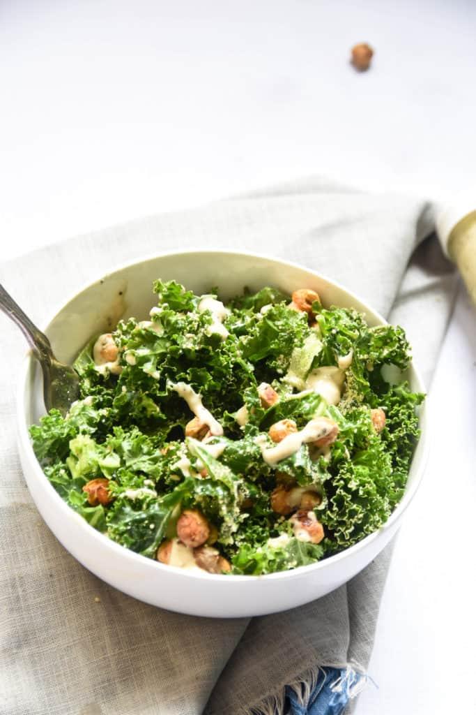 Plant-Based Kale Caesar Salad (veg)