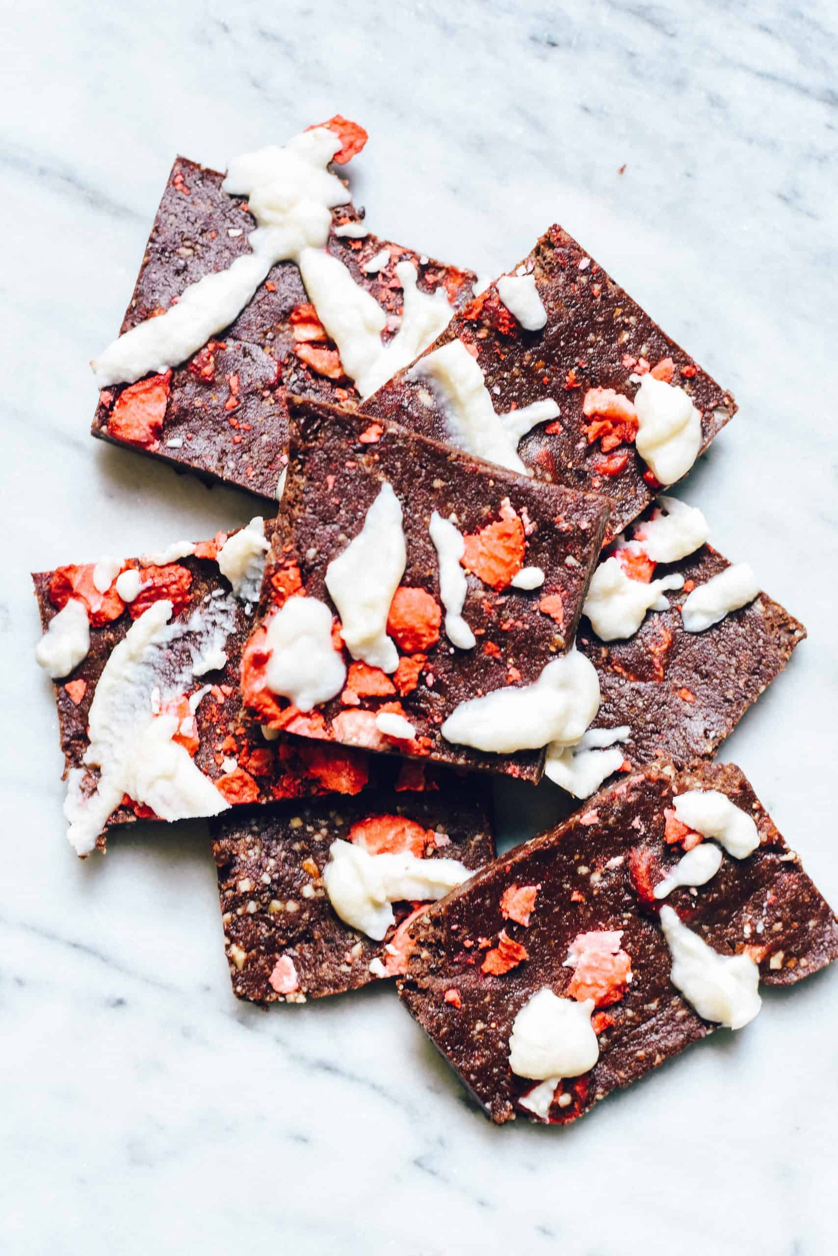 Strawberries & Cream Chocolate Chaga Bars