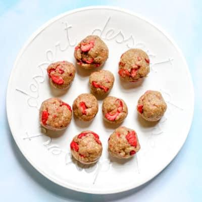 Strawberries & Cream Bites (vegan)