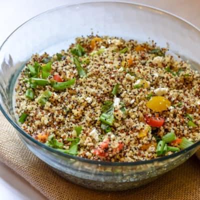 Flavorful Mediterranean Quinoa Salad (veg)
