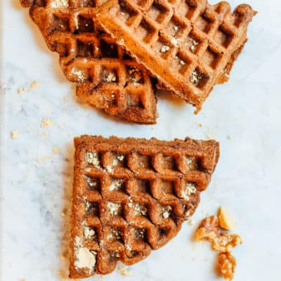 Gluten-free Holiday Gingerbread Waffles