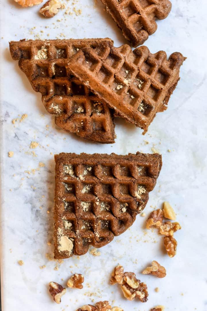 gluten free gingerbread waffles