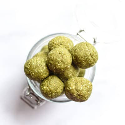 Matcha Green Tea Energy Bites (vegan)