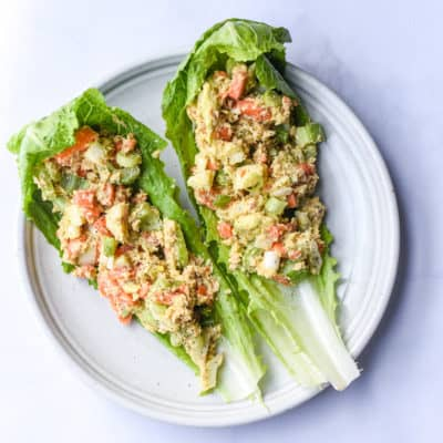 Deliciously Simple Salmon Lettuce Cups