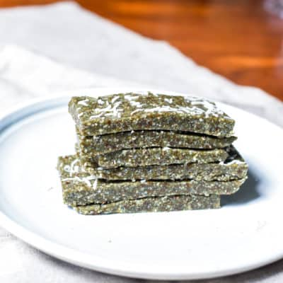 Chewy Blue Spirulina Energy Bars (vegan)