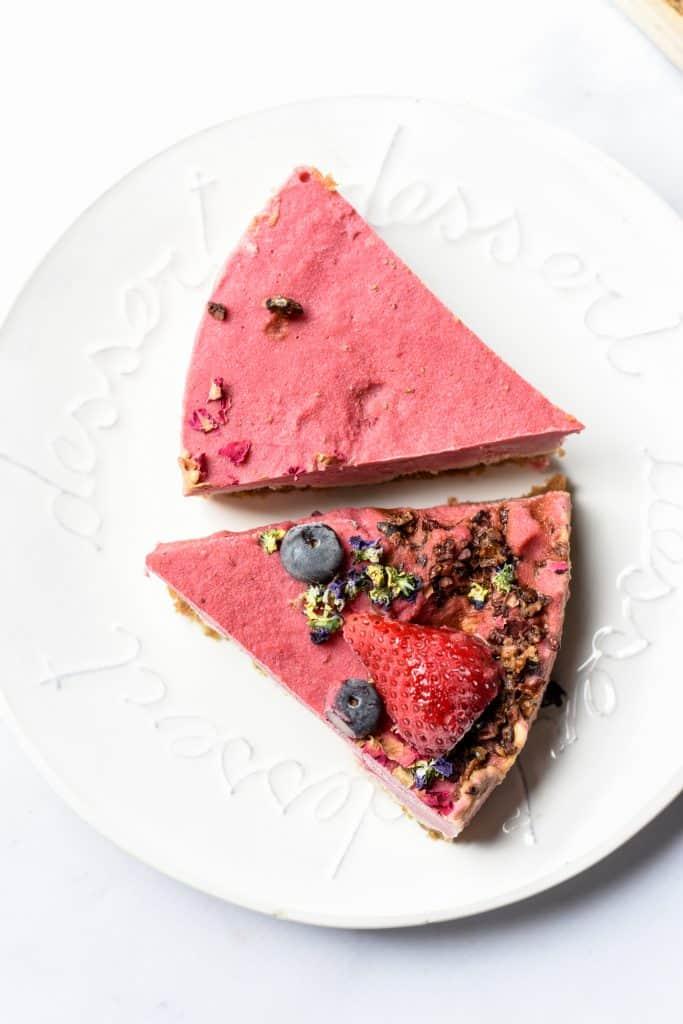 Raw Vegan Strawberries & Cream Cake