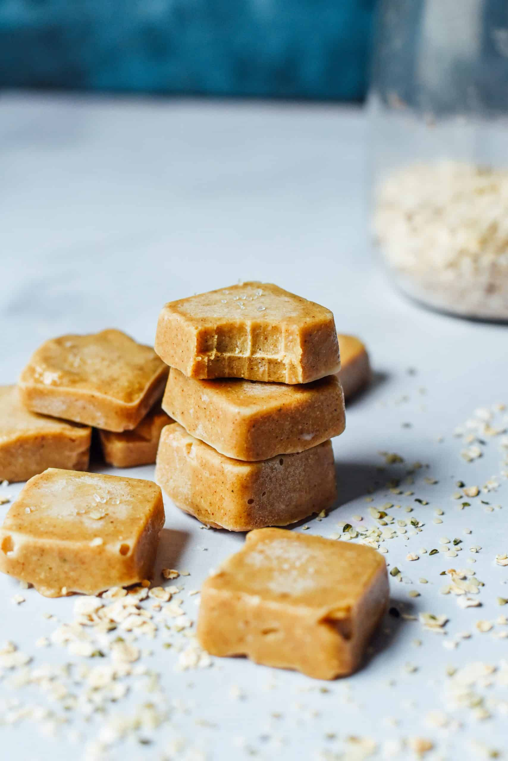 chewy maple cashew fudge