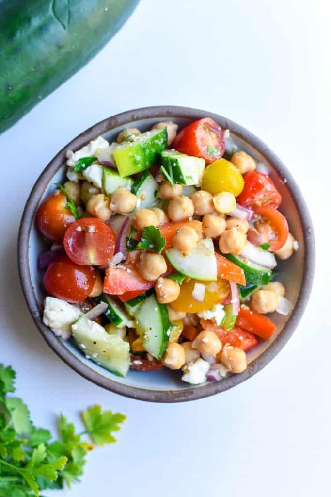 Simple Mediterranean Chickpea Salad