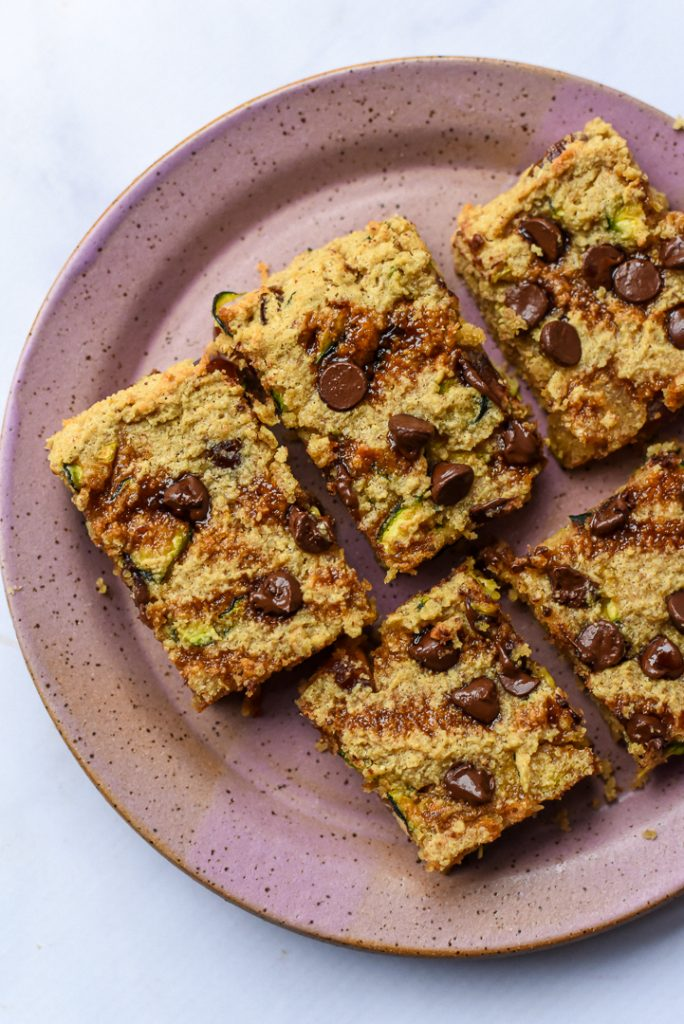 Zucchini Chocolate Chip Blondies