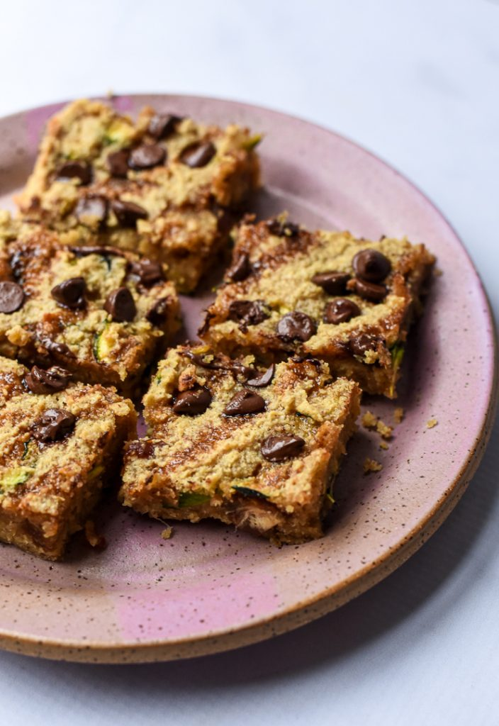 Zucchini Choc Chip Blondies