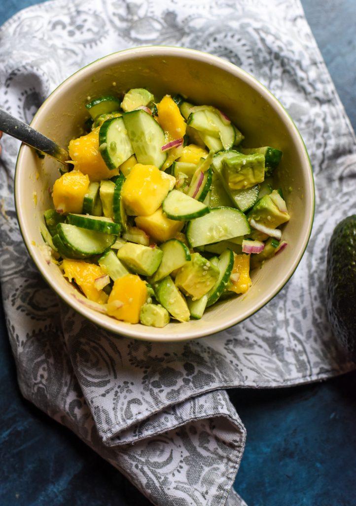 mango cucumber avocado salsa