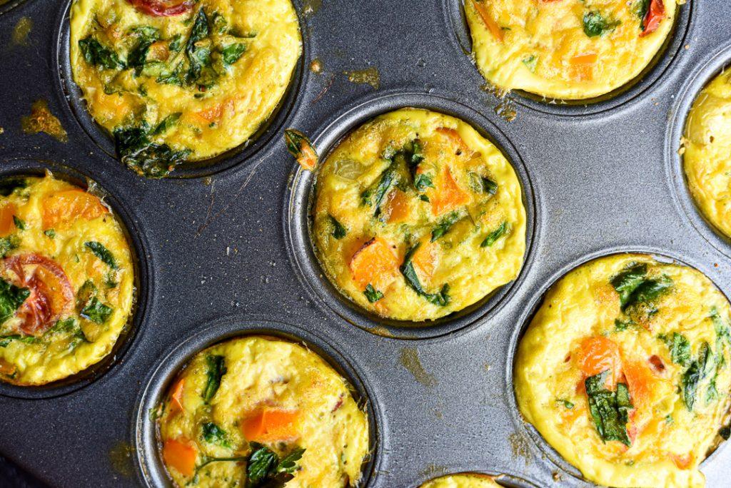 colorful veggie egg muffins