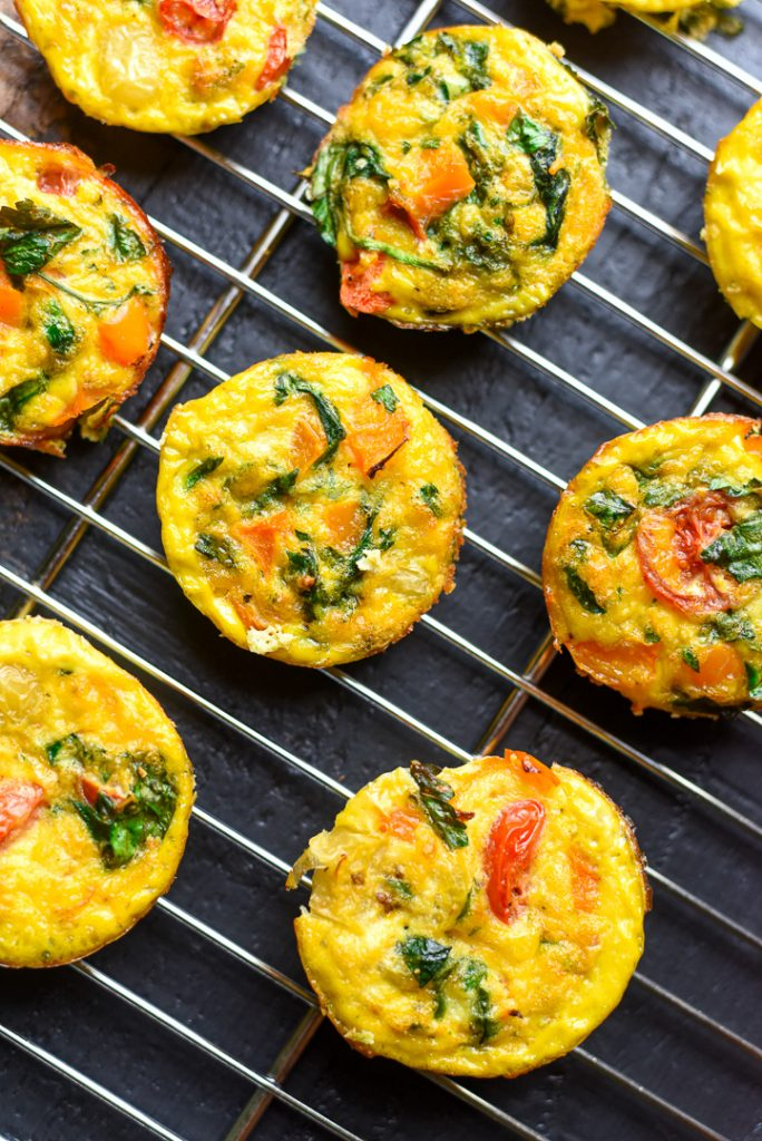 colorful veggie egg muffins