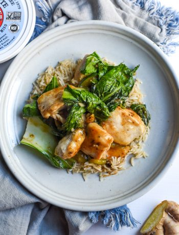 garlic miso chicken bok choy