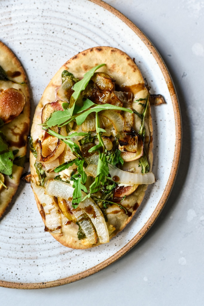 Fig Goat Cheese Caramelized Onion Flatbread
