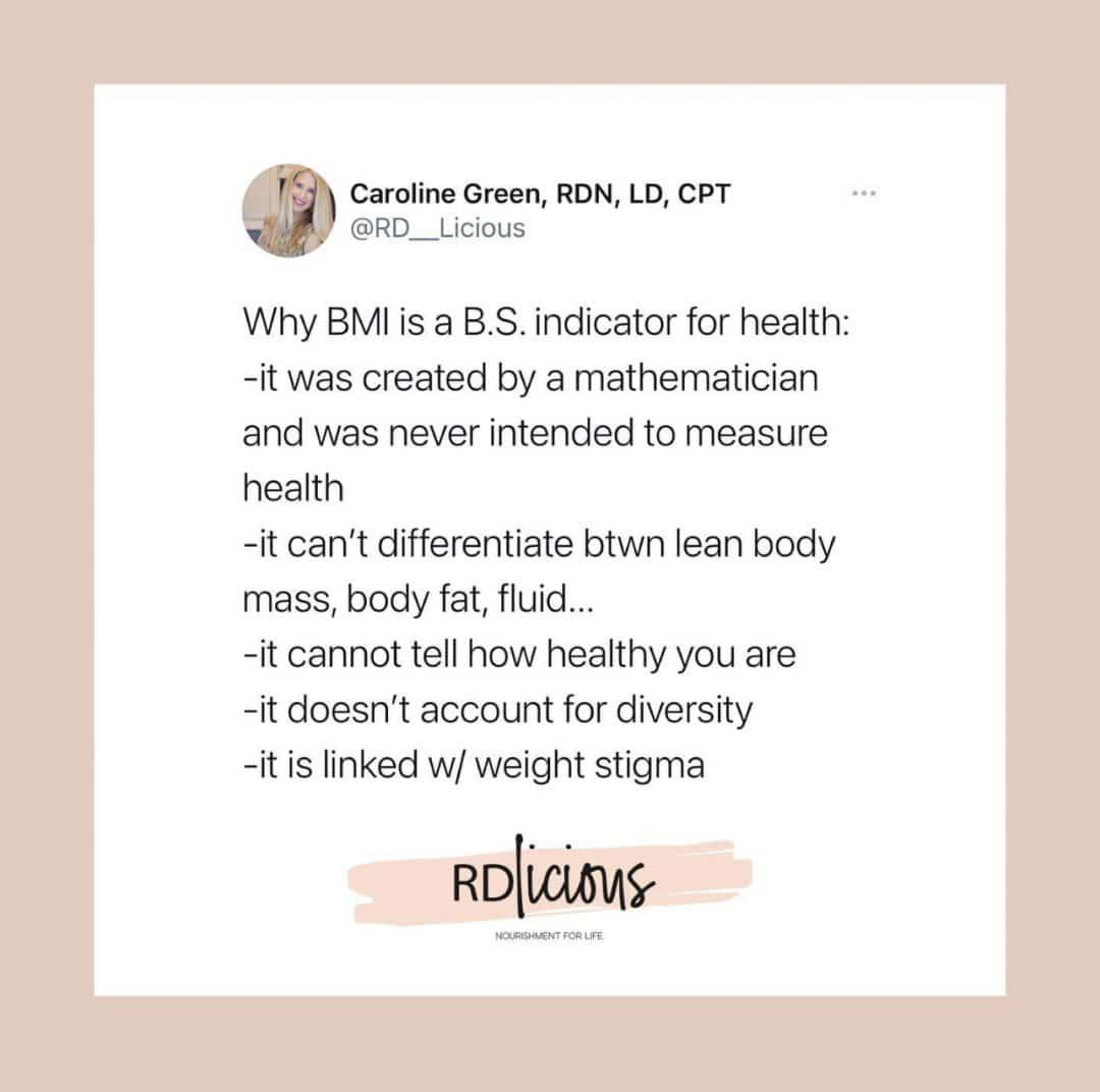 BMI isn't accurate